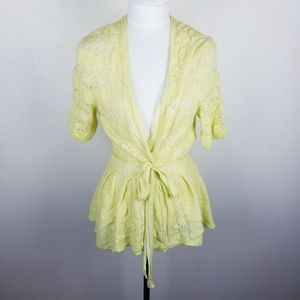 Knitted & Knotted Sweaters - Anthropologie Knitted & Knotted M Cardigan Peplum